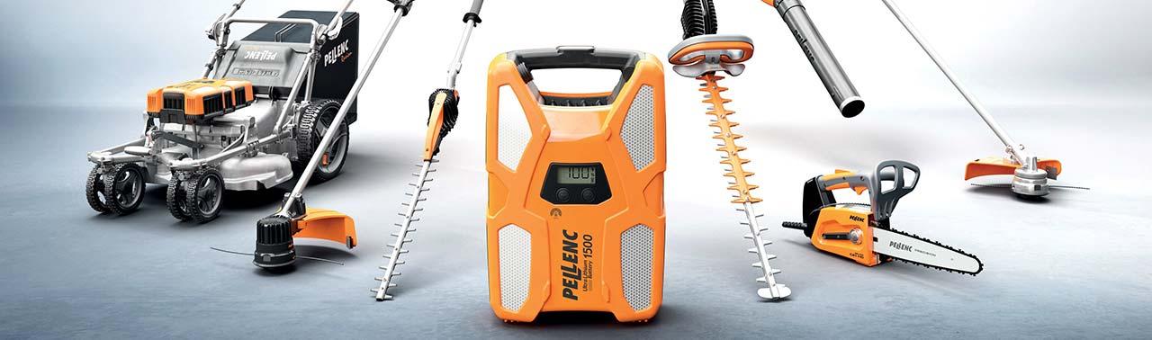 Elektriska verktyg från Pellenc och EGO