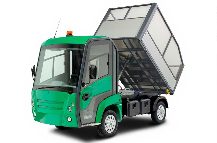 Elektriskt arbetsfordon, lastbil Addax MT grönyteskötsel