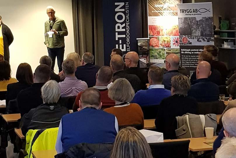 E-TRON medverkar på Föreningen Sveriges Kyrkogårdschefers konferens