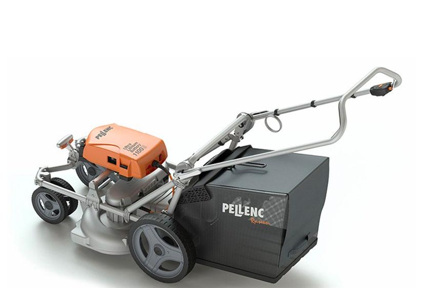 Pellenc Rasion Basic eldriven gräsklippare sida