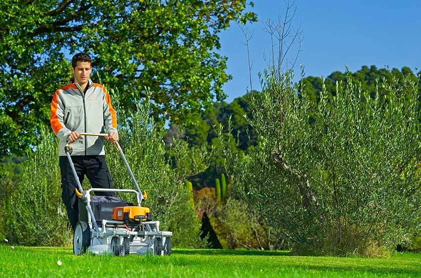 Pellenc Rasion Basic eldriven gräsklippare miljö 1