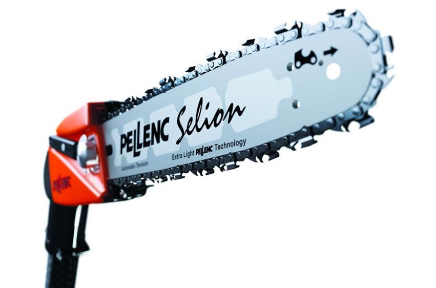 Eldriven stångsåg Pellenc Selion T150/200 och T220/300 klinga
