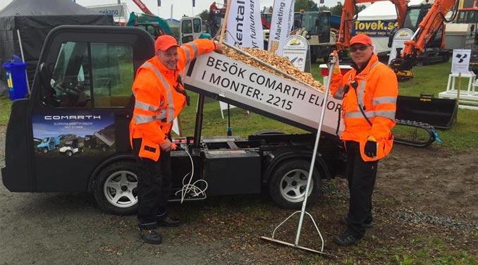 MaskinExpo 2016 - Succé för Comarth elfordon