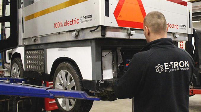 Service och reparationer av elfordon hos E-TRON