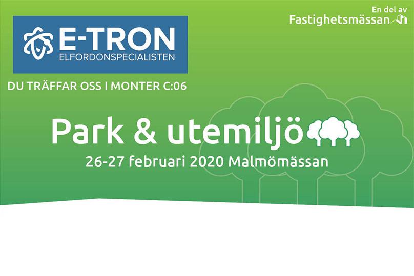 E-TRON visar elfordon på Fastighetsmässan i Malmö