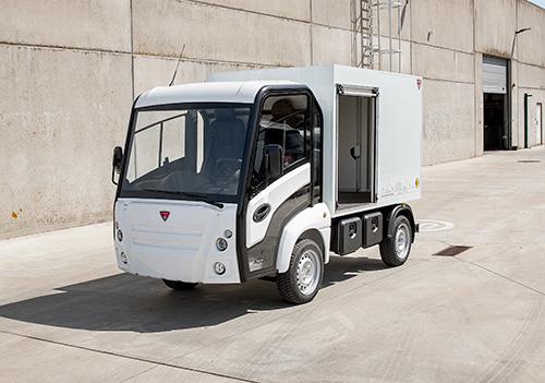 Lätt eldriven lastbil Addax N1