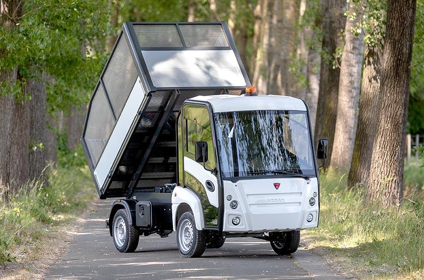 Eldriven lätt lastbil - Addax N1 tippflak