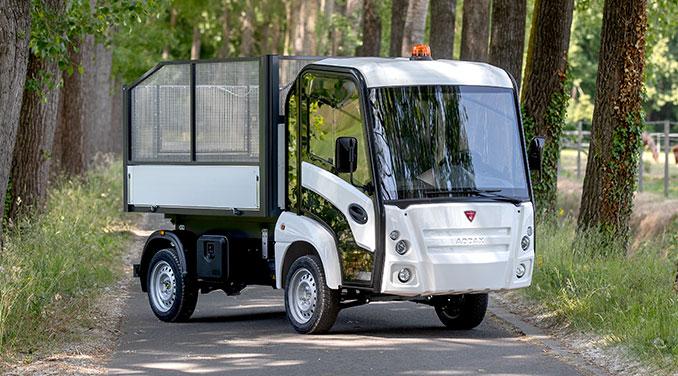 Lätt lastbil med eldrift