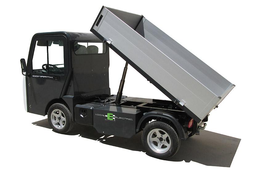 Eldrivet arbetsfordon Comart T-Truck med flak 1