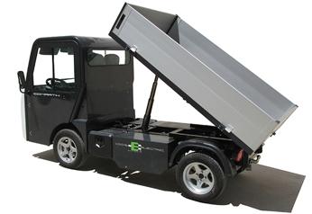 Eldrivet arbetsfordon Comart T-Truck med flak 2