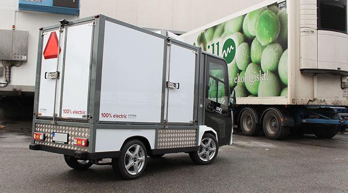 Elektriskt kylfordon för livsmedelsdistribution