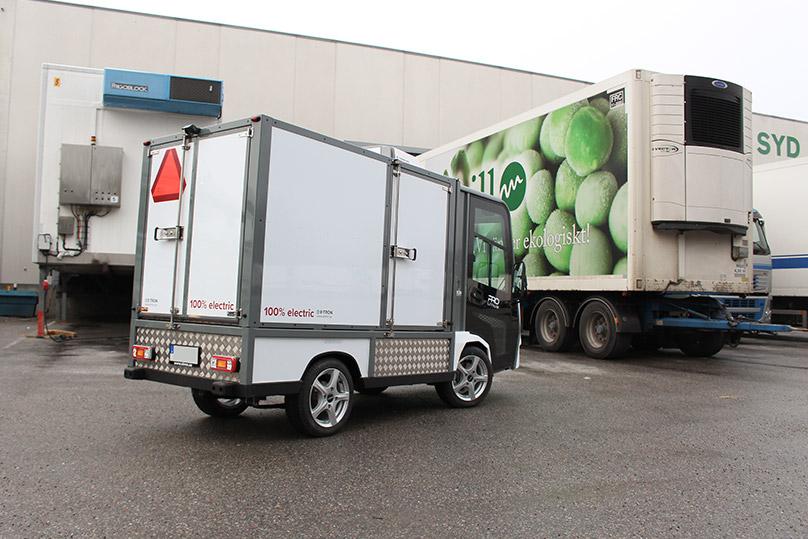 Eldrivet kylfordon för livsmedelsdistribution
