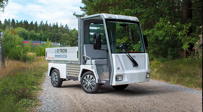PRO Litium Work Truck elfordon för kyrkogårdar
