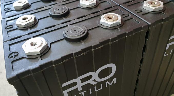 Litiumbatteri till eldrivet arbetsfordon