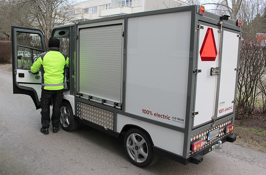 Begagnad eldriven skåpbil PRO Litium 3800 bak