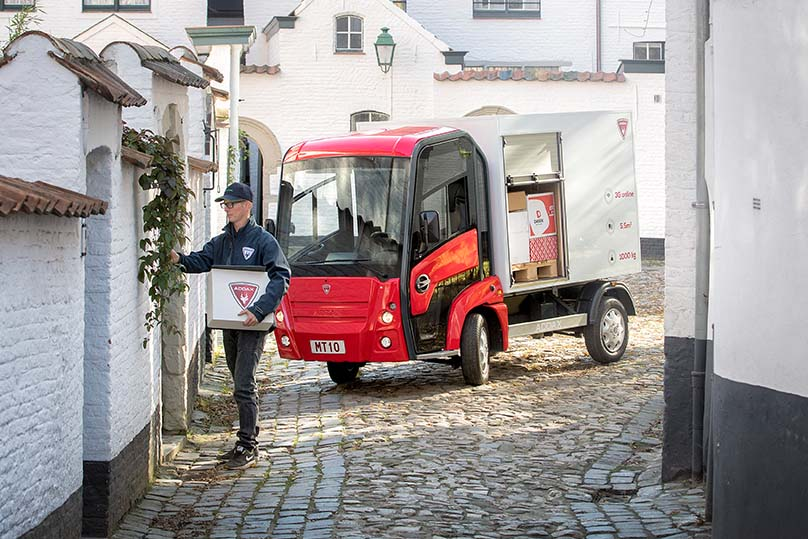 Last mile-leverans med eldriven lätt lastbil