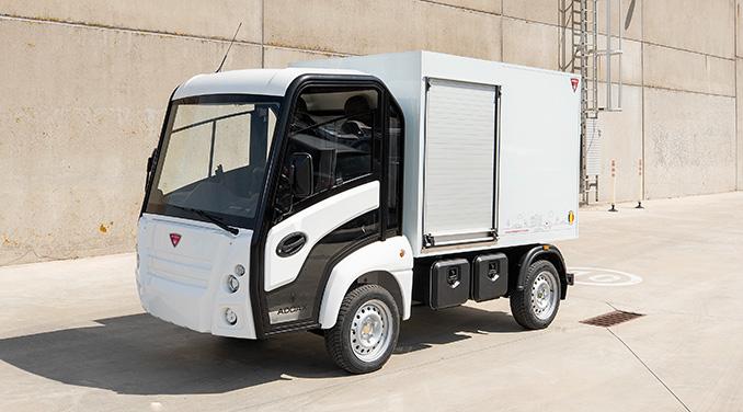 El-skåpbil för transporter