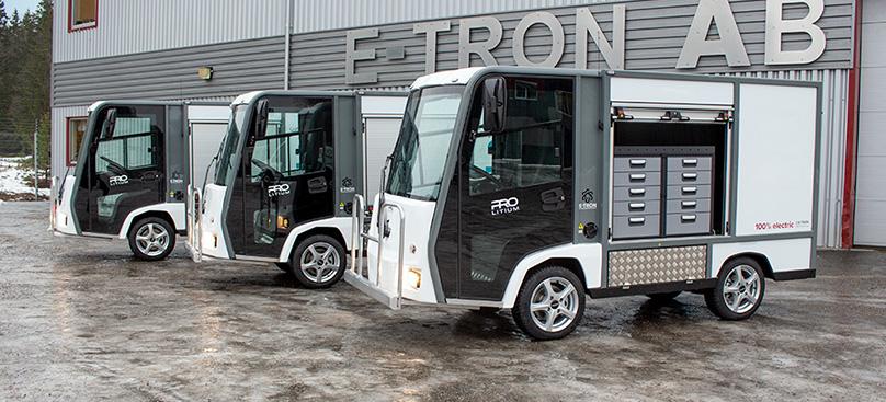 Eldrivna skåpbilar för fastighetsbolag